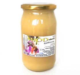 miód rzepakowy w słoiku o pojemności 1,1 kg