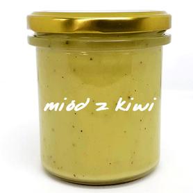 produkt z pasieki pszczoły i my - słoik miodu z kiwi, miód z kiwi, słoik 400 g