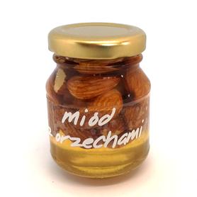 miód akacjowy z migdałami 100g