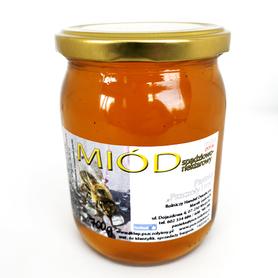 miód spadziowo-nektarowy, spadź liściasta, pasieka pszczoły i my 700 g słoik