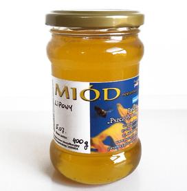Miód lipowy płynny 400 g