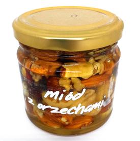 miód akacjowy z orzechami 230g