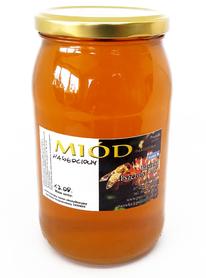 miód nawłociowy płynny w słoiku o pojemności 1,1 kg