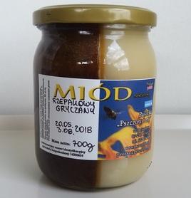 Miód rzepakowy i gryczany DUET 700 g